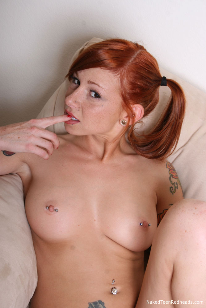 Have Big tit pigtail redhead girl speaking